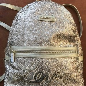 LOVE MOSCHINO Gold Sequin Backpack